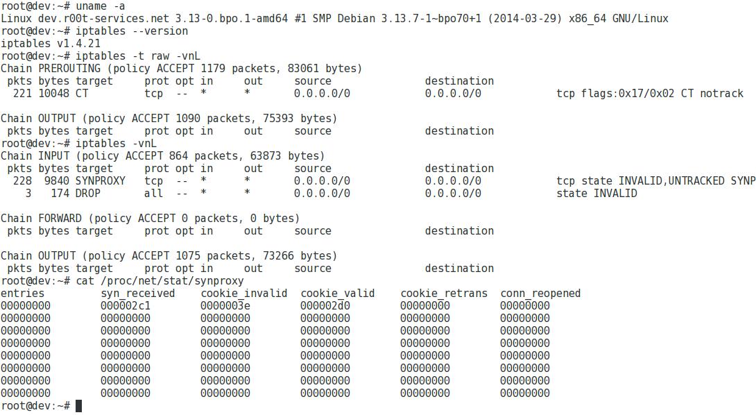 IPTables SYNPROXY SYN Flood DDoS Protection