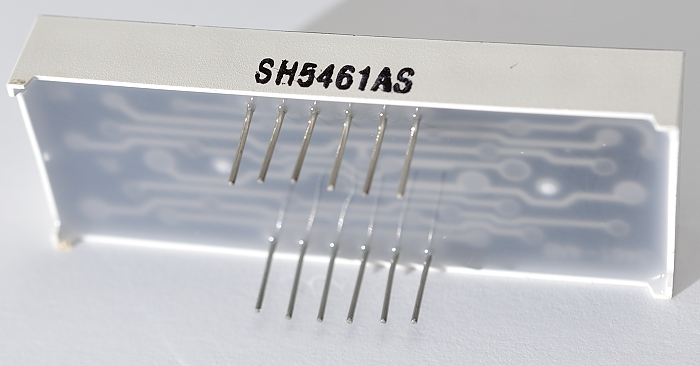 7-segment display – rear
