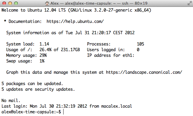 open-ssh de Mac vers Ubuntu